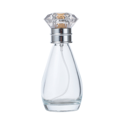 60ml Oval Glass Perfume Bottle with Ms Cap Custom Perfume Bottles