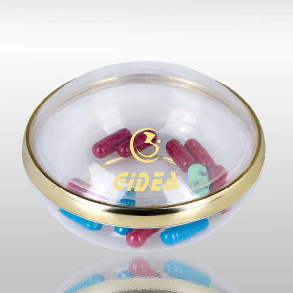 100ML Clear PP Empty Plastic Capsule Container