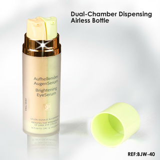 Dual Chamber Airless Plastic Bottle
