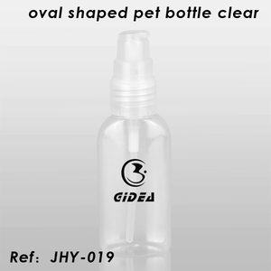 Oval Shaped Pet Bottle Clear