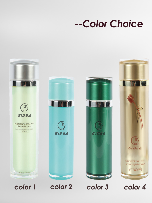 80ml 140ml Cylinder Acrylic Bottle Packaging