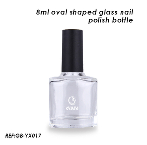 8ml Empty Oval Shaped Glass Bottle for Nail Polish Use
