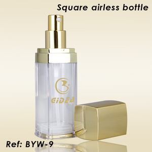40ml 60ml Cosmetic Plastic Bottle Gold Pump Cap