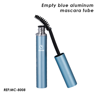 Empty Blue Aluminum Mascara Tube