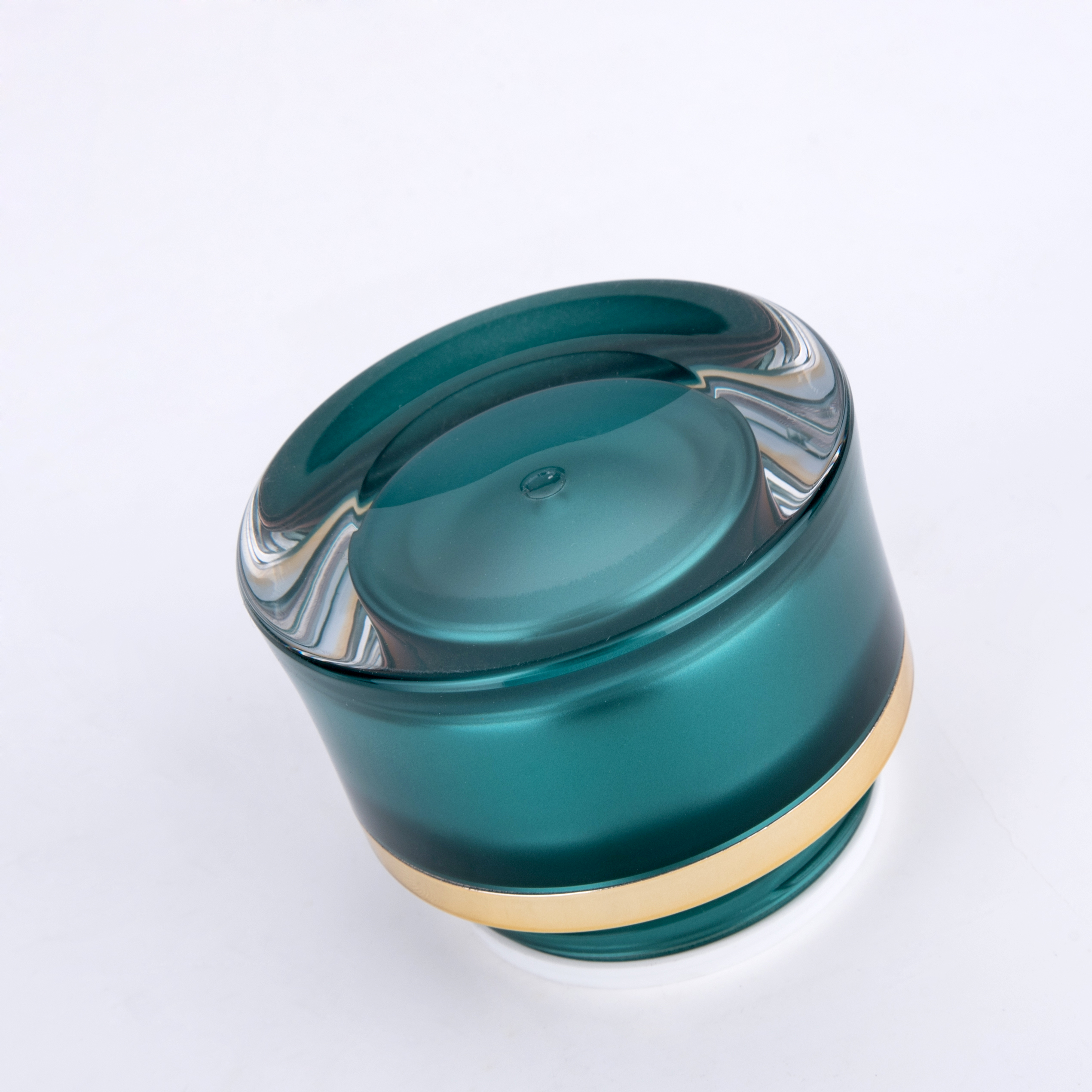 15ml 30ml 50ml Brown Round Waist Acrylic Jars