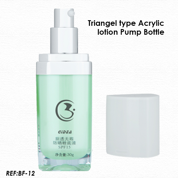 15ml 30ml 50ml Triangle Plastic Lotion Pump Bottle