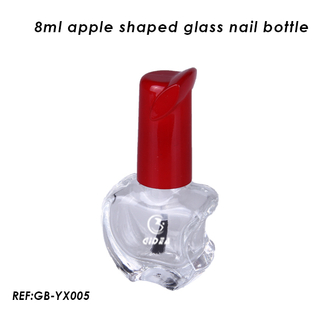 8ml Apple Shaped Fashion Design Glass Nail Polish Bottles