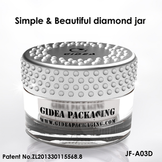 Diamond cap acrylic jar body for cosmetic packing
