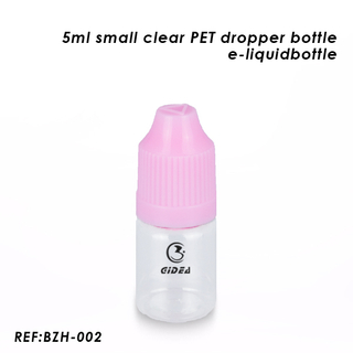 Small Clear E Cig Liquid Bottle 5ml