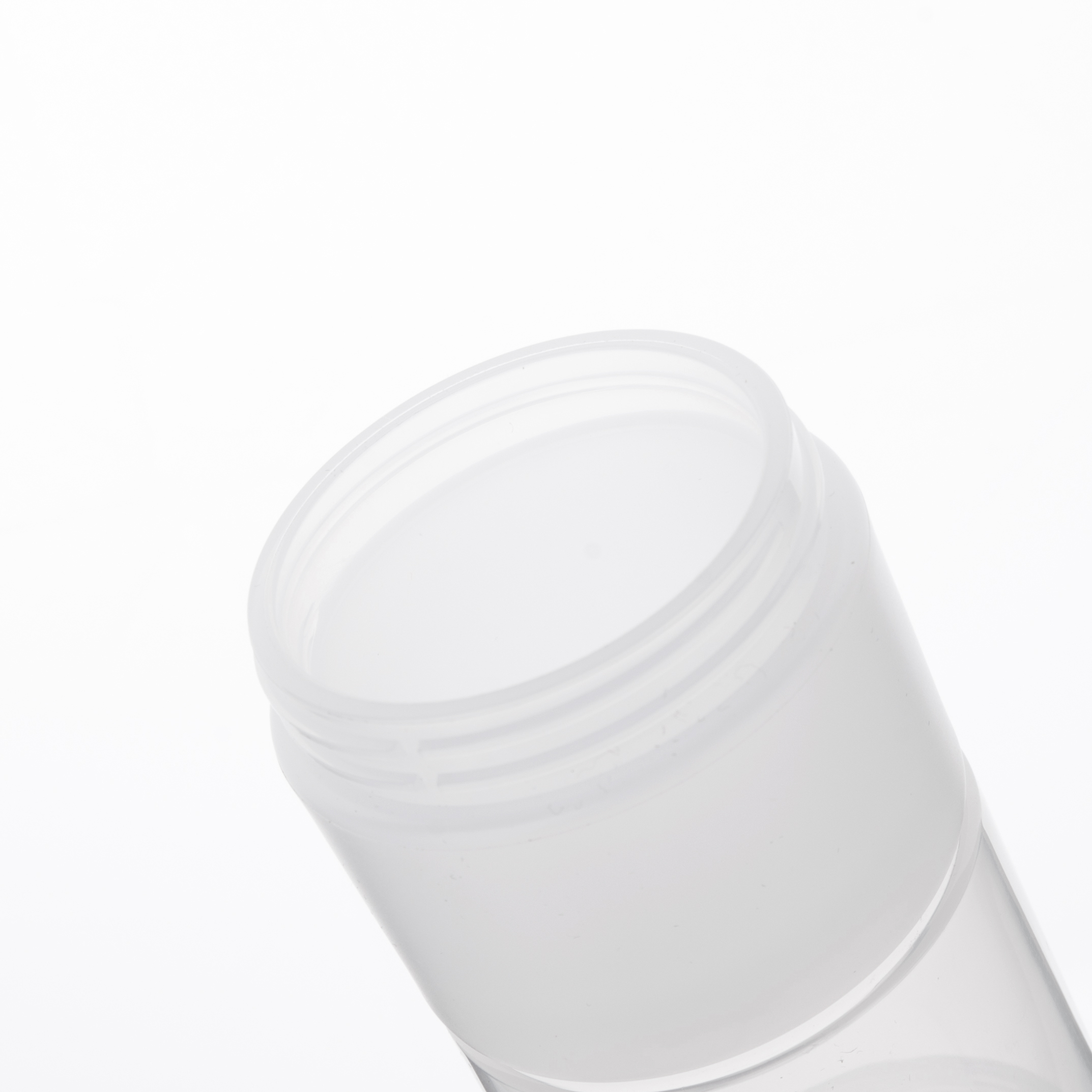 Empty Plastic Cream Jar Container