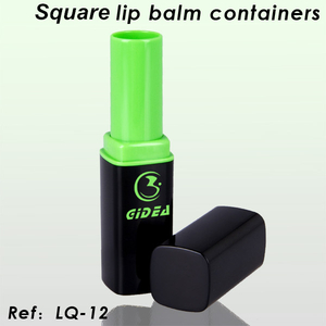Square Lip Balm Container