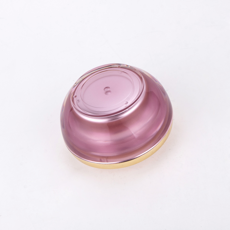 50g Purple AS Material Round Bottom Cream Cosmetic Jar Pots