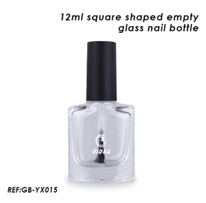 12ml Empty Square Bottles Glass Nail Polish