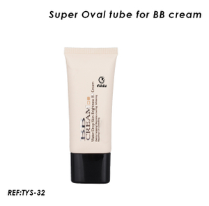 Flat Oval Cosmetic Soft Tube for BB Cream