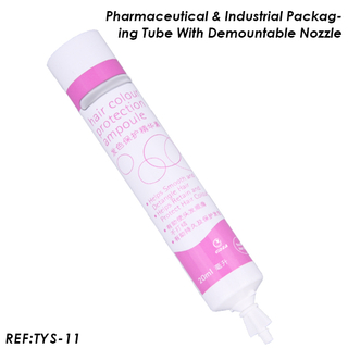20ml Industrial & Pharmaceutical Cream Tube Packaging Products with Demountable Nozzle
