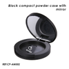 Black Empty Cosmetics Compact Case with Mirror