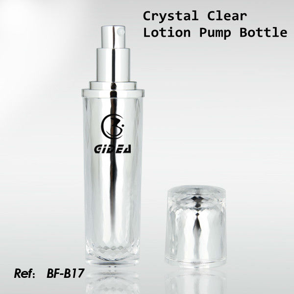 15ml 30ml Cylinder Crystal Lotion Pump Bottle