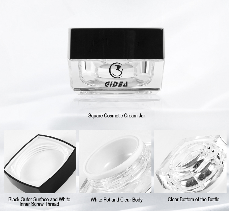 Square Acrylic Cosmetic Jar Small Order Zone