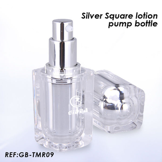 15ml 30ml 50ml 100ml Square Shaped Acrylic Lotion Pump Bottle
