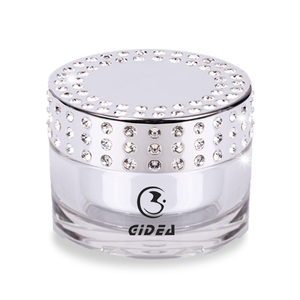 50g Electroplated Bright Silver Diamonds Acrylic Jars In Stock