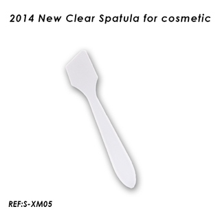 White Plastic Cosmetic Spatula For Facial Mask Spatula